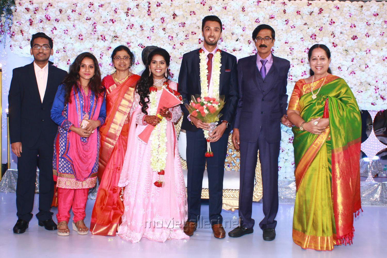 Actress Sathyapriya @ Manobala Son Harish Priya Wedding Reception Stills