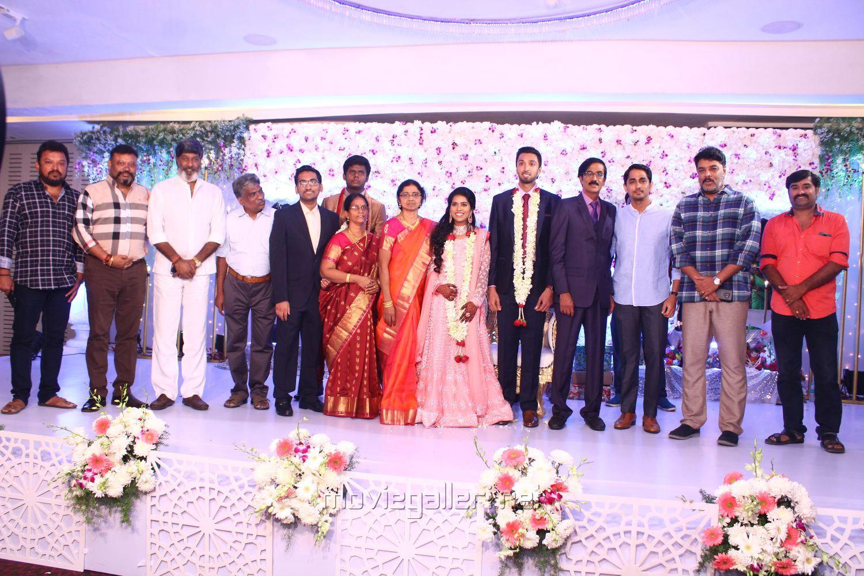 Siddharth, Sundar C @ Manobala Son Harish Priya Wedding Reception Stills
