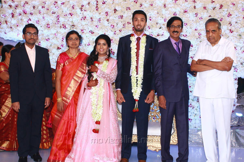 AVM Saravanan @ Manobala Son Harish Priya Wedding Reception Stills
