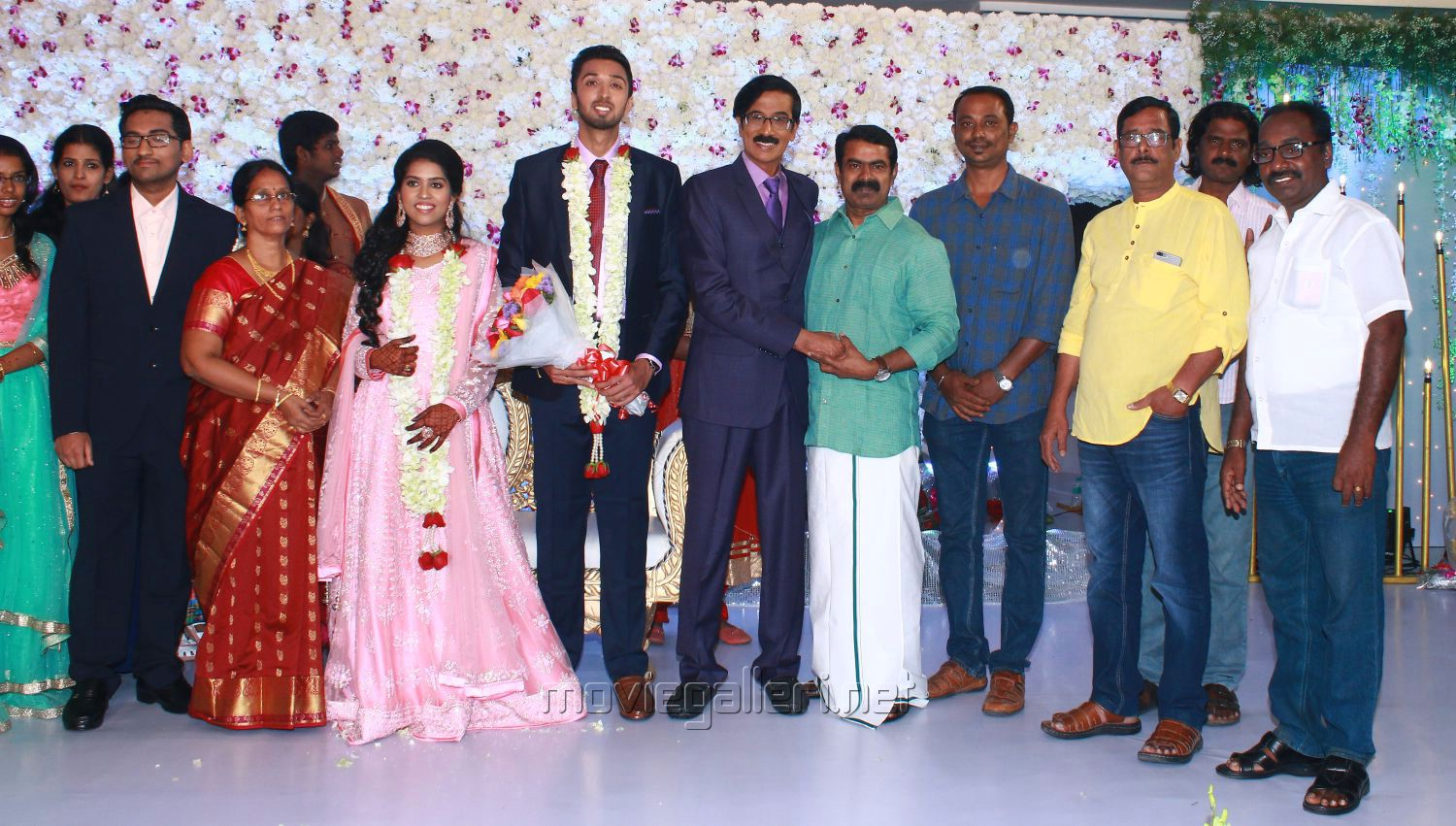 Seeman @ Manobala Son Harish Priya Wedding Reception Stills