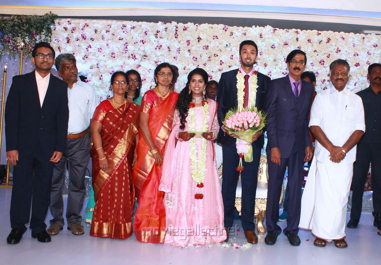 O Panneerselvam @ Manobala Son Harish Priya Wedding Reception Stills