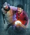 Actor Lal, Mohanlal in Manyam Puli Movie Stills