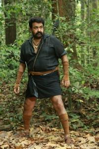Actor Mohanlal in Manyam Puli Movie Stills