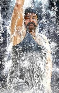 Actor Mohanlal in Manyam Puli Telugu Movie Stills
