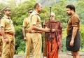 Kishore, Mohanlal in Manyam Puli Movie Stills