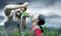 Mohanlal, Kamalinee Mukherjee in Manyam Puli Movie Stills