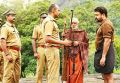 Kishore, Mohanlal in Manyam Puli Movie Stills