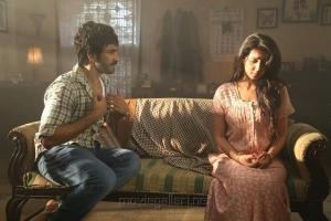 Aadhi, Nikki Galrani in Marakathamani Movie Stills