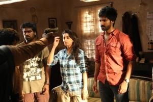 Nikki Galrani, Aadhi in Marakathamani Movie Stills