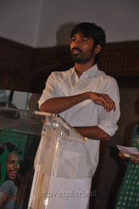 Actor Dhanush at Maranthen Mannithen Movie Audio Launch Photos