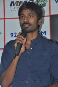 Actor Dhanush @ BIG FM for Mariyaan Movie Promotions Photos