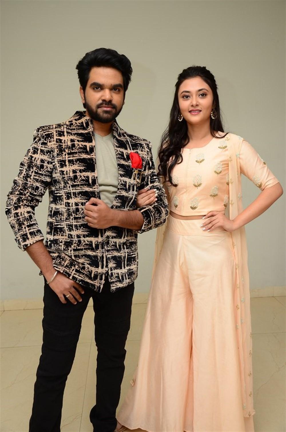 Abhay, Megha Choudhary @ Marshal Movie Teaser Launch Stills