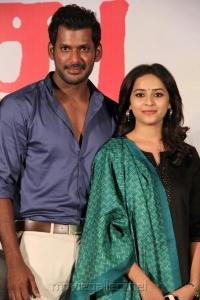 Vishal, Sri Divya @ Marudhu Movie Press Meet Photos