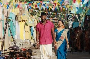 Vishal & Sri Divya in Maruthu Movie Photos