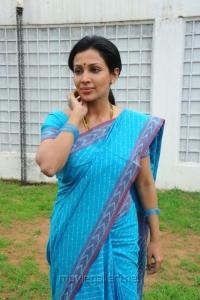 Telugu Actress Mayuri in Blue Saree Photos