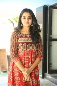 Actress Nikhila Vimal @ Meda Meeda Abbayi Movie Opening Stills