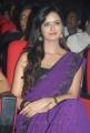 Telugu Actress Meenakshi Dixit Purple Saree Photos