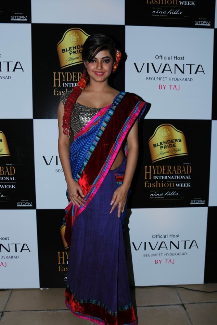 Actress Meera Chopra at Blenders Pride Hyderabad International Fashion Week 2012