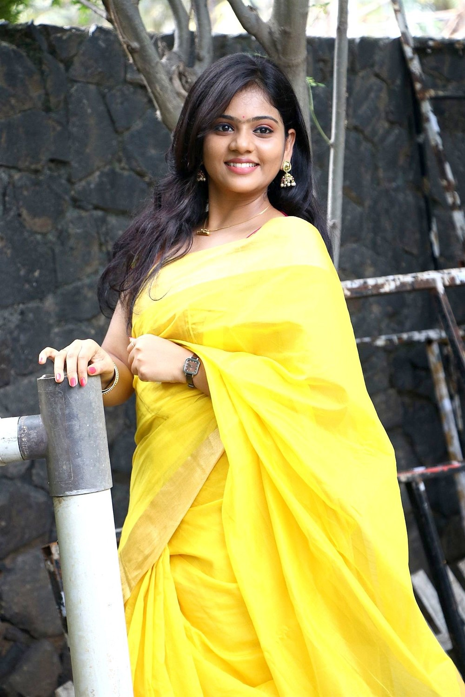 Veerapuram 220 Movie Actress Megana Saree Photos