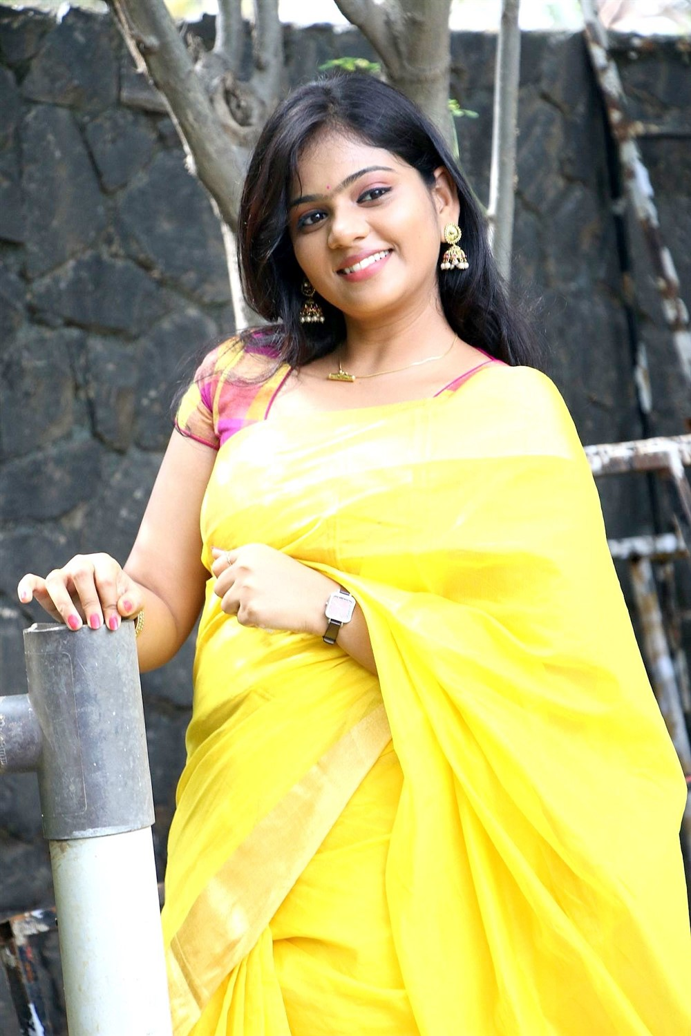 Tamil Actress Megana Photos @ Veerapuram 220 Audio Launch