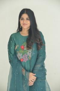 Telugu Actress Megha Akash in Green Salwar Kameez Pics