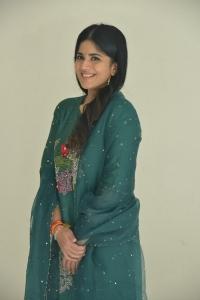 Megha Akash Green Salwar Kameez Pics @ Dear Megha Success Meet