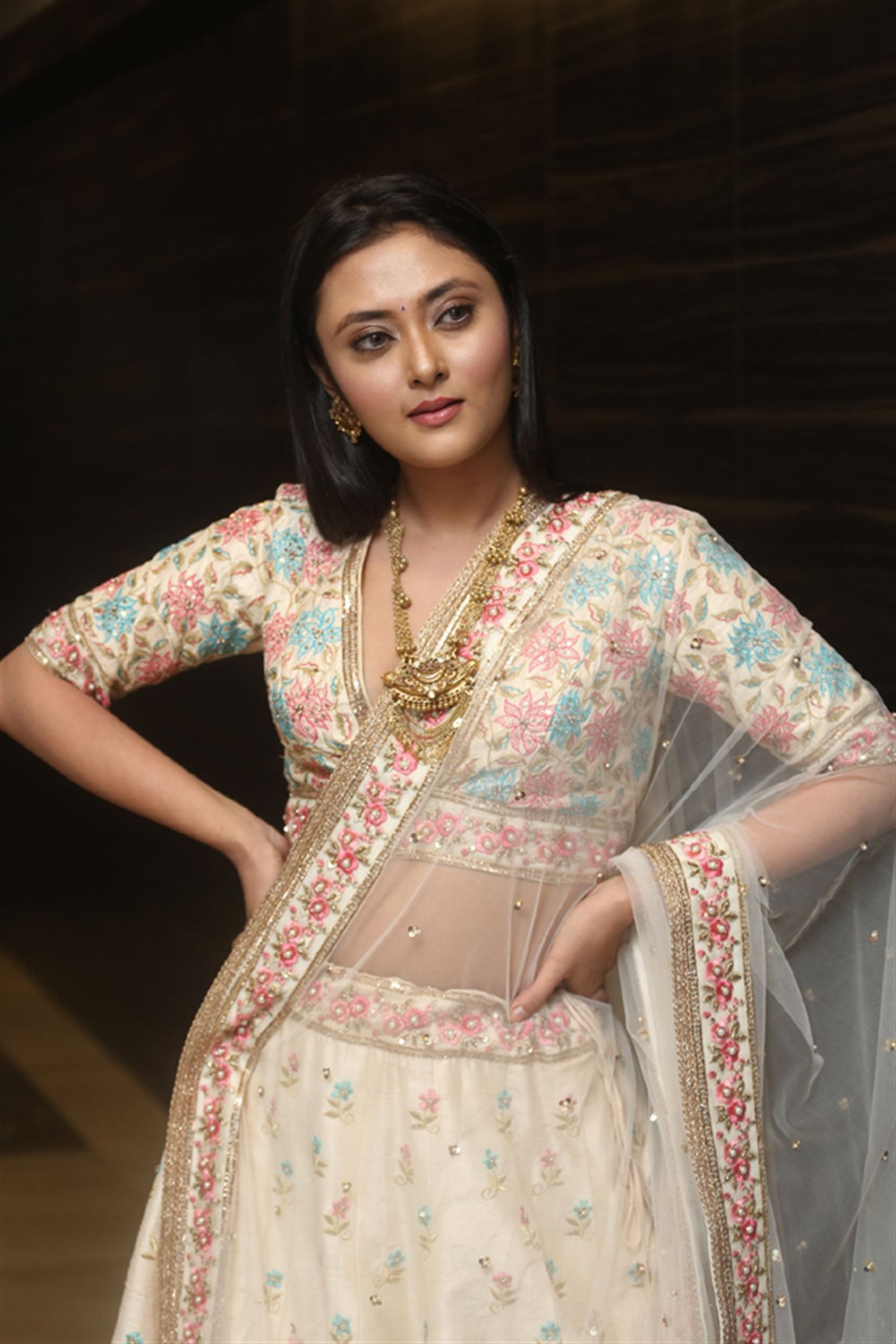 Actress Megha Chowdhury Images @ Marshal Pre Release Event