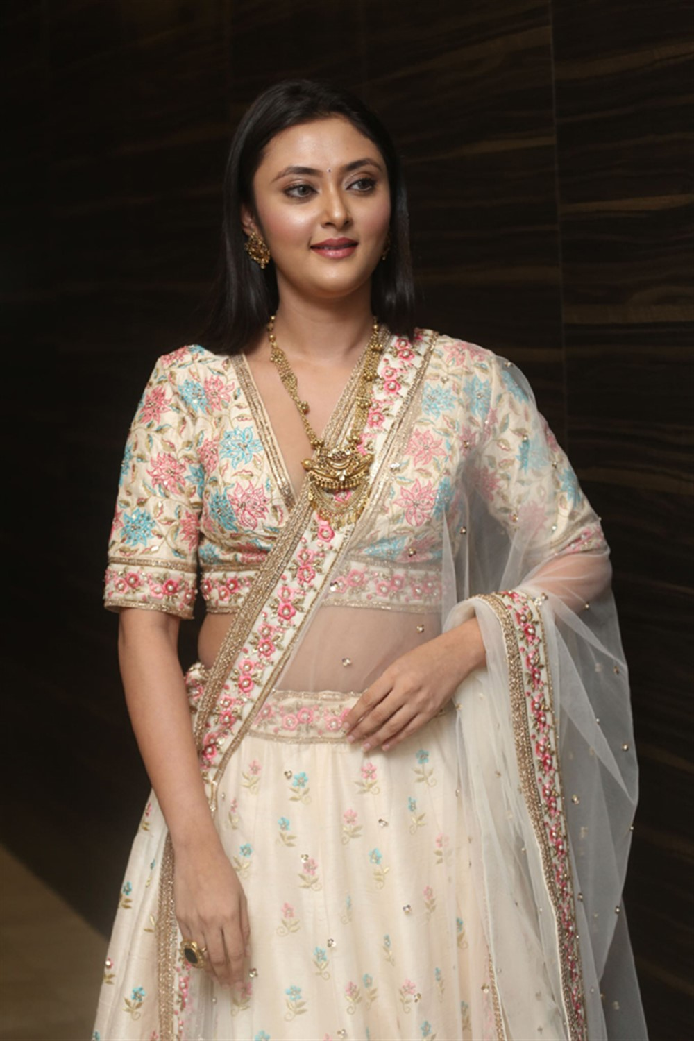 Actress Megha Chowdhury Images @ Marshal Pre Release Function