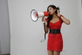 Actress Meghana Raj in Hot Red Frock Photo Shoot Stills