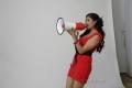 Actress Meghana Sunder Raj Hot Red Frock Photo Shoot Stills