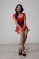 Meghana Raj Hot Photo Shoot Stills in Red Frock