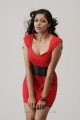 Actress Meghana Raj Spicy Hot Photo Shoot Stills in Red Frock