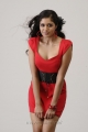 Actress Meghana Raj in Hot Red Dress Photo Shoot Stills