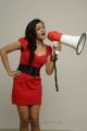 Meghna Raj Hot Photo Shoot Stills in Red Frock