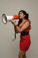 Actress Meghana Raj in Hot Red Frock Photo Shoot Stills