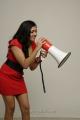 Meghana Raj Hot Photo Shoot Stills in Red Frock