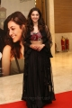 Actress Mehrene Kaur Pirzada in Embellished Crop Top With Black Lehenga Photos