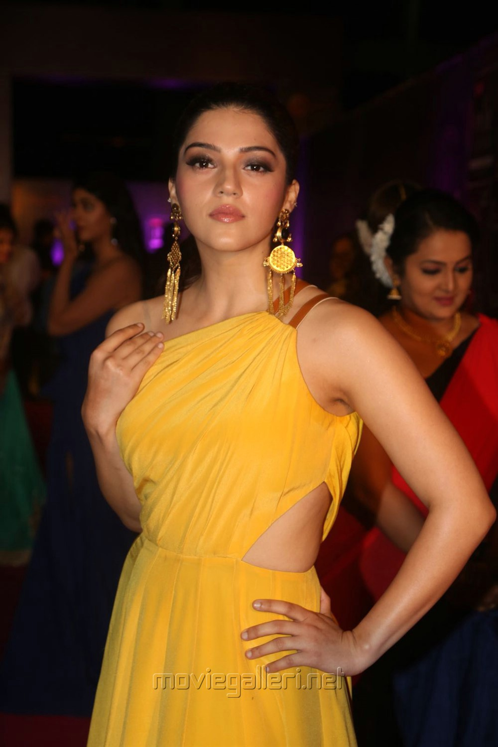 Actress Mehreen Kaur Pirzada Stills in Yellow Dress