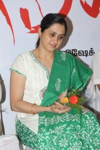Actress Devayani @ Meiyyazhagi Movie Trailer Launch Photos