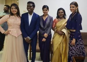 Priya, Atlee, Samantha, Hema Rukmani, Kajal @ Mersal Music Release Images