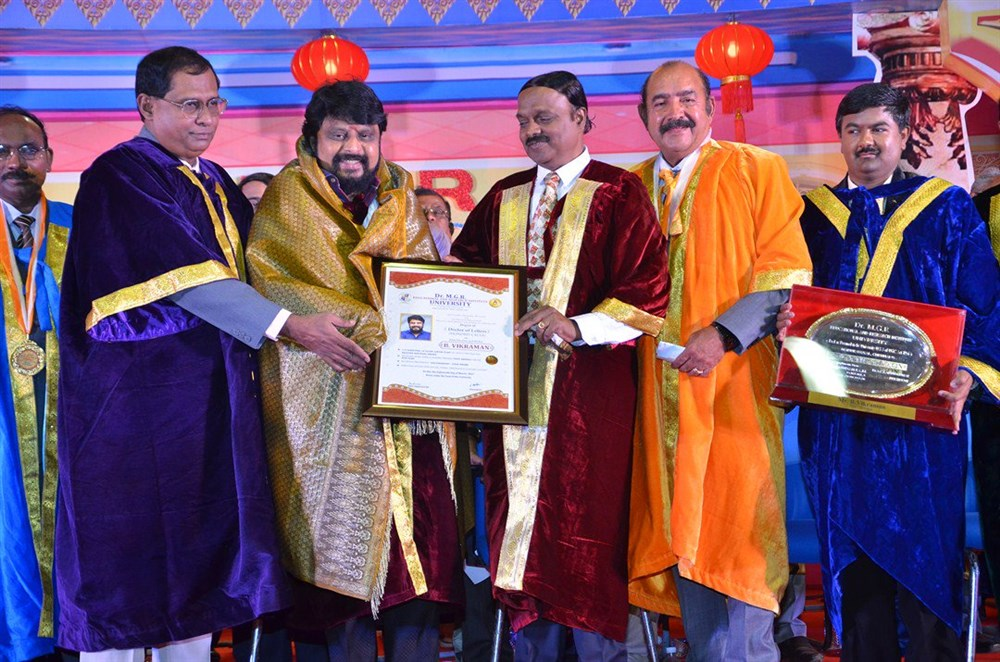 MGR University Doctorate to Vijayakumar & Vikraman Photos