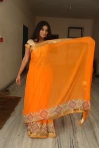 Telugu Actress Midhuna in Saree Hot Photos