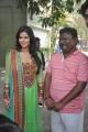 Sharmila Mandre, R.Madhesh at Mirattal Movie Press Meet Stills