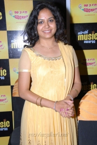 Singer Sunitha at South Mirchi Music Awards 2011 Press Meet Stills