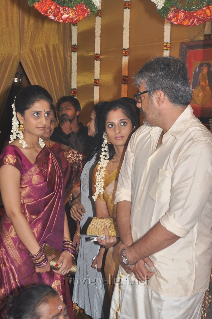 Shalini Ajith At Actor Mirchi Shiva Marriage Photos