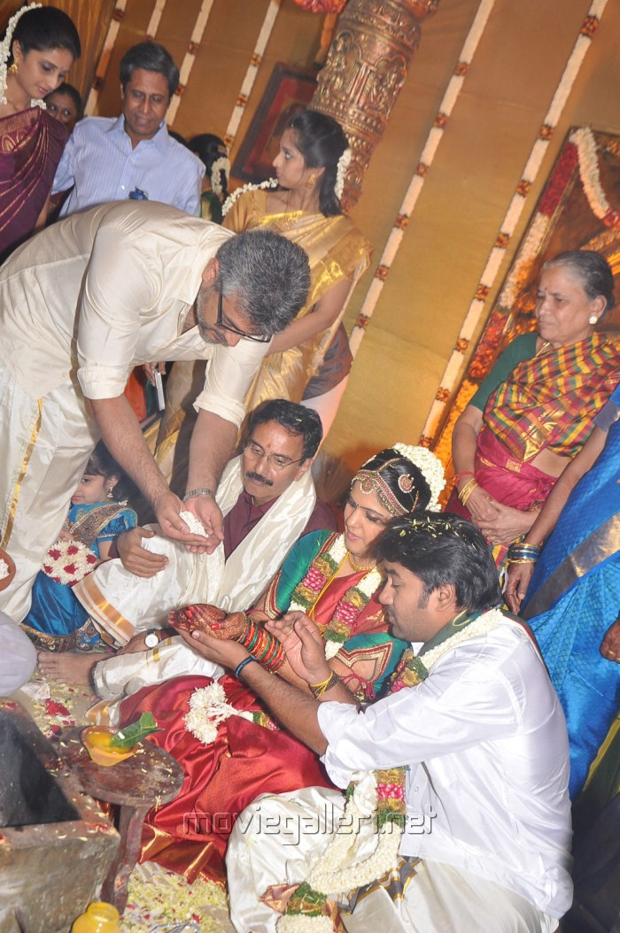 ... Ajith Kumar at Actor Mirchi Shiva Marriage Photos | New Movie Posters