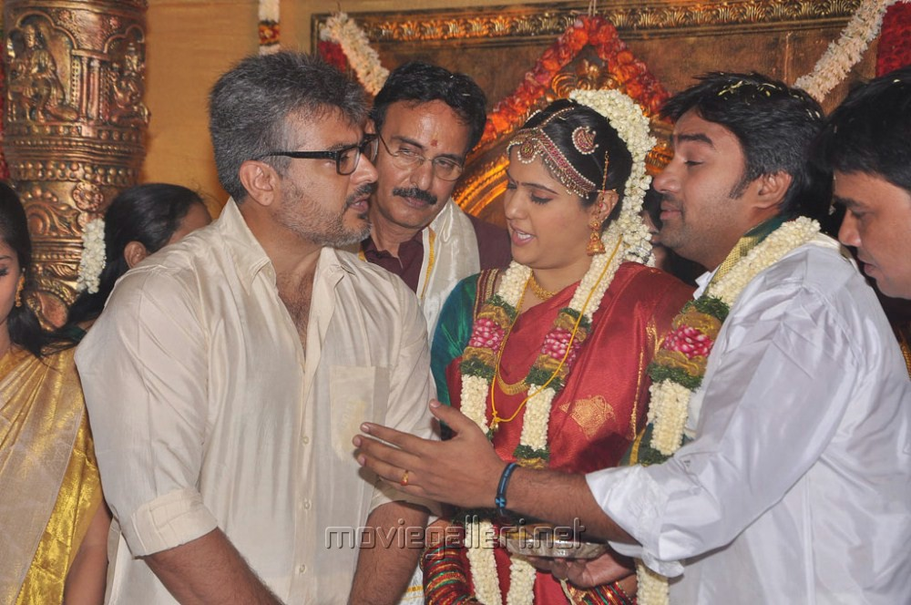 Ajith Kumar At Mirchi Shiva Marriage Photos
