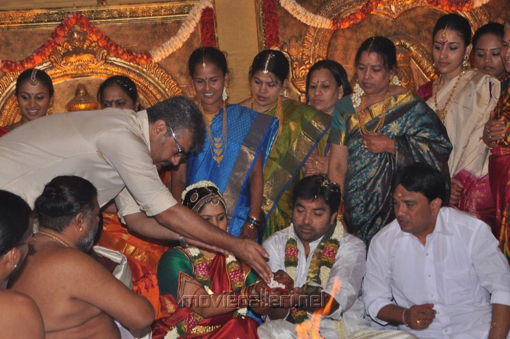 Actor Ajith At Mirchi Shiva Marriage Pictures