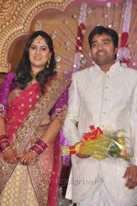 Mirchi Shiva - Priya Wedding Reception Photos