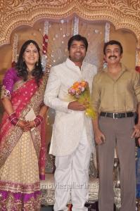 Actor Mohan at Mirchi Shiva Wedding Reception Photos